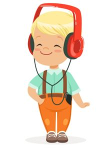 smiling-little-boy-listening-to-music-in-vector-15166549